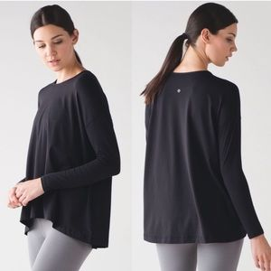Lululemon flowy city bound long sleeve tee